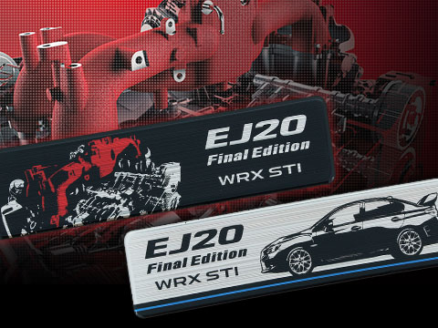 EJ20Final Edition ヘアライン調ステッカー