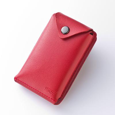 【数量限定】薄いカードケース 赤革Ver
